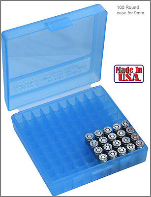 AU10.42 • Buy New MTM 380/9MM Cal 100 Round Flip-Top Ammo Box Glock  Ideal For Storing Reloads