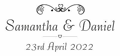 £9.45 • Buy Personalised Wedding Rubber Stamp 11637 Save The Date Invites Gifts Your Names