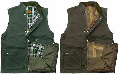 £24.95 • Buy Game Mens Padded Wax Gilet Quilted Bodywarmer Country Waistcoat Olive And Brown