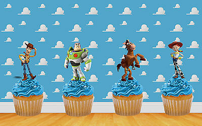 £2.95 • Buy 22 X TOY STORY STAND UP BIRTHDAY CAKE TOPPER DECORATIONS WAFER CARD (uncut)