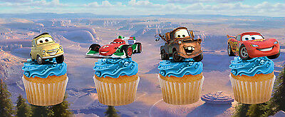 £2.95 • Buy 12 X DISNEY CARS EDIBLE STAND UP CAKE TOPPERS DECORATIONS PREMIUM WAFER CARD