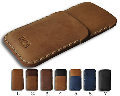 AU70.14 • Buy Bovine Leather Case For Sony Xperia, PERSONALIZED Pouch With Credit Card Pocket