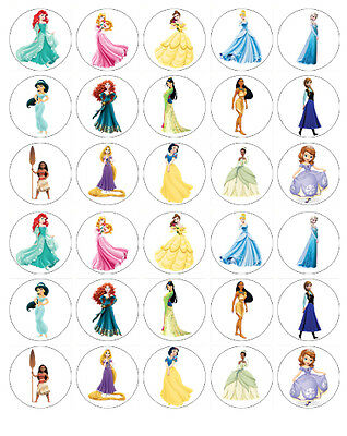 £2.50 • Buy DISNEY PRINCESS EDIBLE WAFER CUPCAKE FAIRY CAKE TOPPERS DECORATIONS X 30
