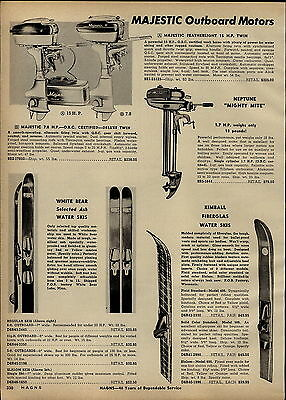 $9.99 • Buy 1957 PAPER AD Majestic Featherlight Neptune Mighty Mite Outboard Motor 15 1.7 HP