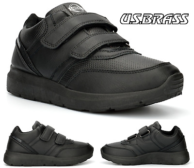 Boys Black School Kids Lightweight Boots Trainers Back To School Shoes Uk Sizes • 11.95£