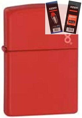 $13.70 • Buy Zippo 233zl Red Matte With Logo Lighter With *FLINT & WICK GIFT SET*