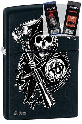 $16.66 • Buy Zippo 28504 Sons Of Anarchy Lighter With *FLINT & WICK GIFT SET*