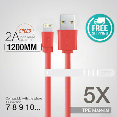 AU9.95 • Buy 5 X CRAZY USB Data Lightning Charger Cable For IPhone 8 7 6S Plus XS MAX XR X