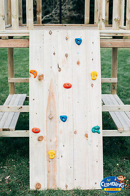 £96.29 • Buy 5ft Wooden Rock Wall FOR Climbing Frame, Tree House, Jungle Gym - 8 Rock Holds