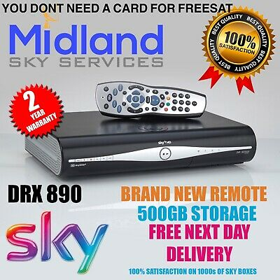 Sky + Plus Hd Box 500gb Slim Line Receiver/recorder With Remote And Power Cable! • 31.99£