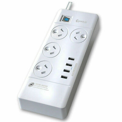 AU34.90 • Buy Power Board 4 Way Outlets Socket 4 Usb Charging Charger Ports / Surge Protector