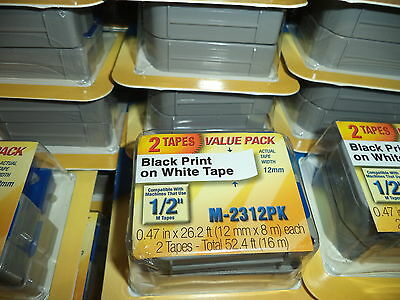 $12.99 • Buy 2 Pack Brother M231 P-Touch Label Tape Ptouch ORIGINAL NIB 1/2  M-231 M-2312PK