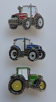 Metal Enamel Pin Badge Brooch Tractor Farm Farmers Field Fields Barn Plough • 2.29£