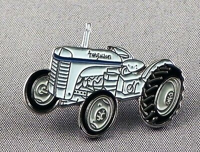 Metal Enamel Pin Badge Brooch Tractor Vintage Old Farm Farmer Field Barn Plough • 2.29£