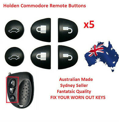AU7.50 • Buy 5X Sets Key Remote Buttons Holden Commodore Key Buttons VS VT VX VY VZ WH WK WL