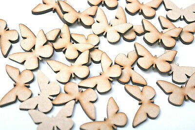 Wooden MDF Butterfly Craft Shapes Blank Butterflies Animal Craft Embellishments  • 3.25£