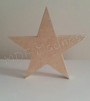 £1.80 • Buy Wooden Craft Shape. Mdf Pointed Star. 18mm Free Standing. 6mm Hanging