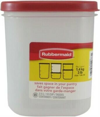 $12.56 • Buy Rubbermaid FG7M7200CHILI 10-Cup Dry Food Container By Rubbermaid Inc
