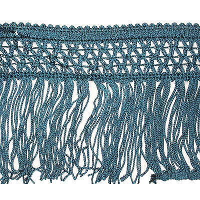 £4.33 • Buy Chainette Fringe 4  Drop Teal Priced Per Yard