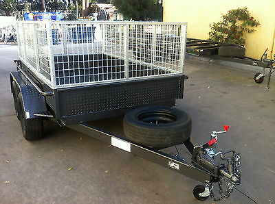 AU2999.77 • Buy Tandem Box Trailer With Cage Dual Axle 8X5 2T ATM  9x5 10x5 10x6 Also Avail