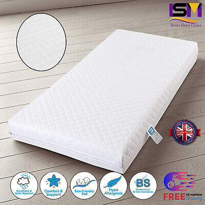 £35.95 • Buy New  Quilted Baby Cot Bed Toddler Mattress Waterproof Breathable All Sizes