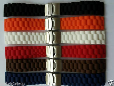 $ CDN15.71 • Buy 18mm 20mm 22mm 24mm SPORT DIVER Watch Rubber Band Silicone Strap.bracelet&Buckle