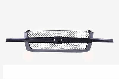 $121.77 • Buy Black Grille W/ Mesh Insert Gray For 03-07 Chevy Silverado 1500 2500 3500 Pickup