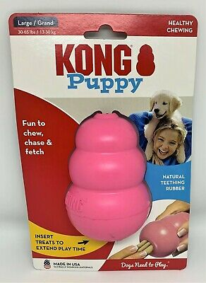 AU19.50 • Buy NEW Kong Puppy Dog Chew Toy. Tough USA Made, Recommended By Vets