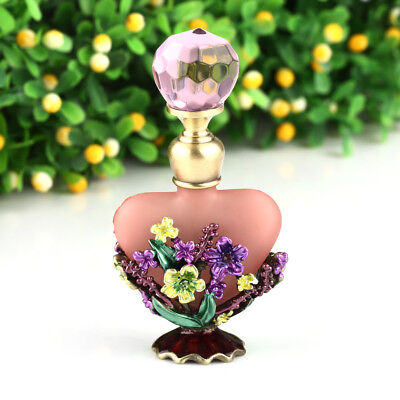 Vintage Mass Of Flowers Perfume Bottle Empty Refillable Antique Bottles Crafts • 7.58£