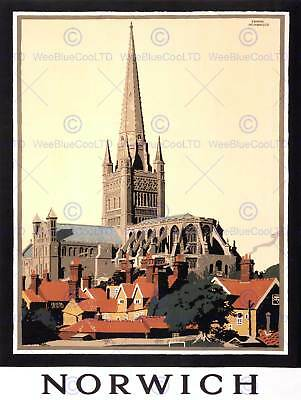 £9 • Buy Travel Tourism Norwich Cathedral Norfolk Uk New Art Print Poster Picture Cc4435