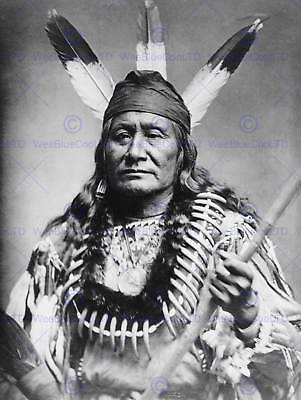 Photography Portrait Rushing Eagle Sioux Native American Art Poster Print Cc7022 • 9£