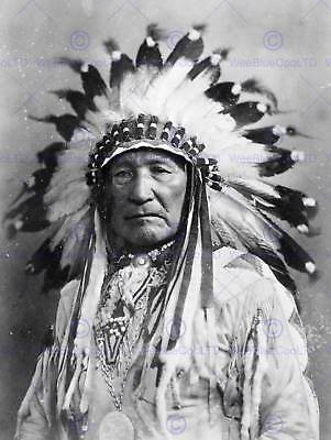 £9 • Buy Vintage Photo Native American Indian Ain Chief New Art Print Poster Cc5333