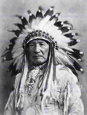 Vintage Photo Native American Indian Ain Chief New Art Print Poster Cc5333 • 9£