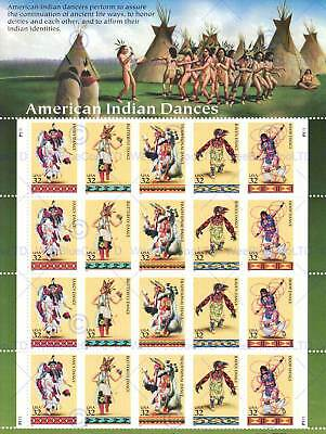Postage Stamps American Indian Native Dance Usa Art Poster Print Picture Cc6774 • 9£