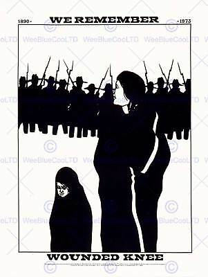 Civil Rights Equality Native American Wounded Knee Art Print Poster Cc1670 • 9£