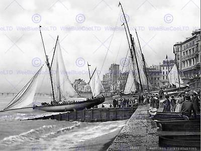 £9 • Buy Hastings Yachts Starting England Vintage Old Bw Photo Print Poster Art 908bw