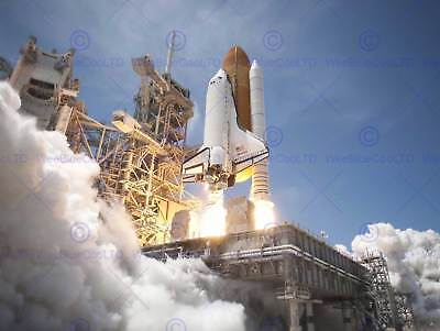 Space Shuttle Atlantis Launches From Ksc Art Print Poster 413pyb • 9£