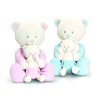 Keel 25cm Baby Bear In Onesie Suit With Teddy Pink • 14.99£