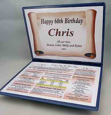 HAPPY 65TH BIRTHDAY GIFT -THE YEAR YOU WERE BORN - PERSONALISED With FOLDER • 12.75£