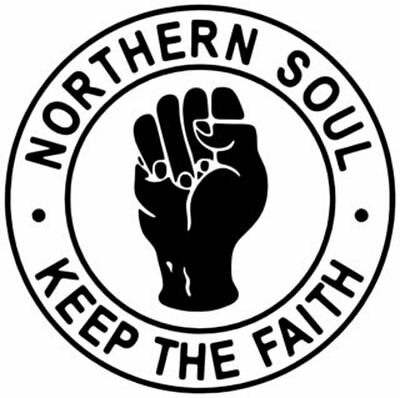 KEEP THE FAITH - NORTHERN SOUL - CAR / WINDOW STICKER   2 Stickers • 3.50£