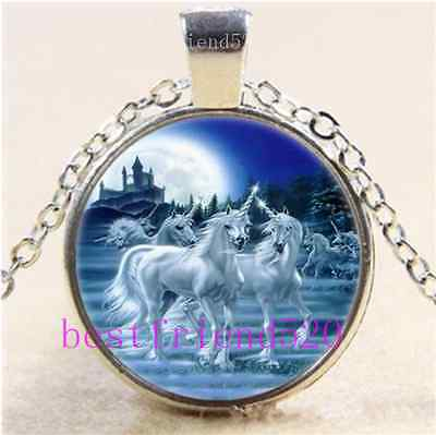 £1.85 • Buy Photo Cabochon Glass Tibet Silver Chain Pendant Necklace