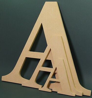 £8.95 • Buy Wooden Any Letter MDF-Hand Made-Ready To Decorate,Names,Signs-Georgia