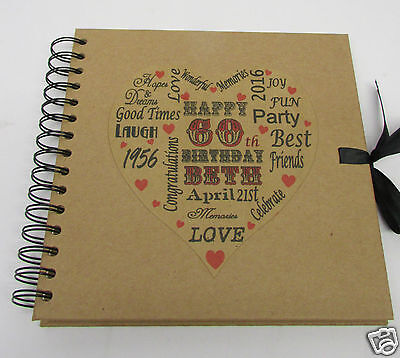 PERSONALISED BIRTHDAY 18th 21st 30th 40th 50th 60th Photo Album Guest Book 8x8 • 14.99£