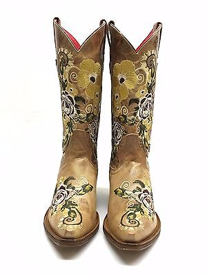 $120 • Buy Women's Macie Bean Boots W/Yellow And Maroon Flowers, Style M8039