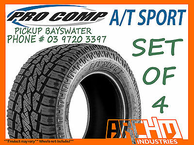 AU1260 • Buy (set Of4) 265/75/16 Pro Comp A/t Sports All Terrain Tyres - Pickup Bayswater