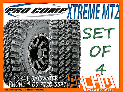 AU1420 • Buy (set Of 4) 265/75/16 Pro Comp Xtreme Mt2 Mud Terrain Tyres 32 Inch - Bayswater
