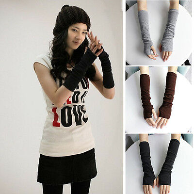 AU7.13 • Buy  Stretchy Arm Warmers Long Fingerless Gloves Fashion Mittens Women Hot Clothing