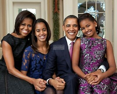 $7.98 • Buy President Barack Obama & First Lady Michelle With Daughters  8x10 Photo (ee-070)