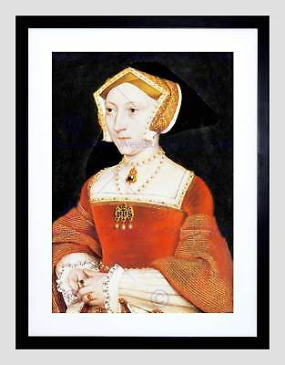 Painting Antique Holbein Junior Tudor Queen Jane Seymour Framed Print B12x12810 • 24.50£