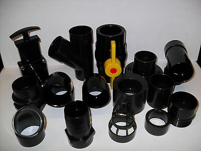 2  Solvent Weld Pipe Fittings. Koi Fish Pond Filter • 4.95£